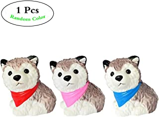 Anboor 4.3 Inches Squishies Dog Husky Kawaii Soft Slow Rising Scented Puppy Animal Squishies Stress Relief Kid Toys Gift Decoration Props,1 Pcs Color Random