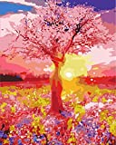 ChenKeai Pintura Digital Paisaje Hermoso Pintura Digital para Adultos y niños DIY Pintura al óleo Set decoración del hogar-with Frame-40x50cm