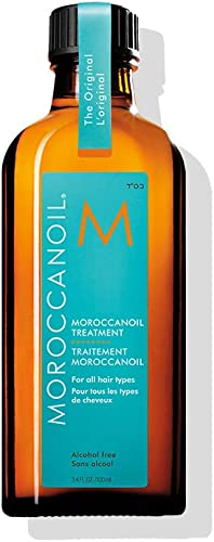 Moroccan Oil Hair Treatment The Original Bottle with Blue Box, For All Hair Types, 100ml