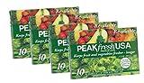 Peak Fresh Reusable Produce Bags, Set of 4, 40 Bags Total