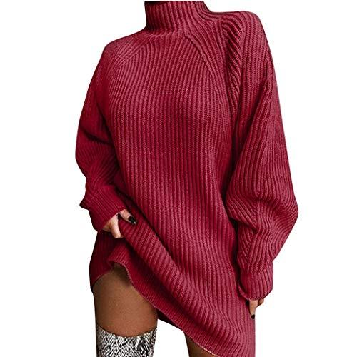 ReooLy Camisa de Entrenamiento, Sudadera Top para Mujer Talla Grande con Estampado de teñido Anudado y gradiente de Manga Larga(Vino,L)