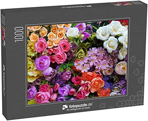 Puzzle 1000 Teile unregelmäßig platzierte Blumen Klassische Puzzle, 1000 / 200 / 2000 Teile, edle Motiv-Schachtel, Fotopuzzle-Kollektion 'Flora'
