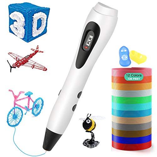 ShuBel Stylo 3D Professionnel, Créatif 3D Pen Ecran LCD Colorés Plus 2 Filament PLA/ABS Stylo 3D comme Cadeau de Noël pour Enfant et...