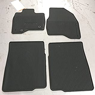 Oem Factory Stock 2015 2016 Ford Explorer Black Ebony Rubber All Weather Floor Mats Set 4-pc Front & Rear