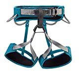 PETZL - CORAX LT Women Climbing Harness, Turquoise, Small (28-30 in)