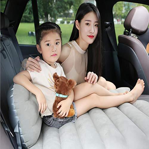 Fen&G Multifunctionele opvouwbare matras, luchtmatras, kussen voor achterbank, opblaasbaar, reizen, comfortabel met compressor voor op reis en camping, 120 x 92 cm