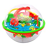 Rrunzfon Juguetes educativos para la Primera Infancia 3D Laberinto Rompecabezas de la Bola del Juguete 100 Barreras Laberinto Mágico intelecto Bola del Balance Laberinto Bola Puzzle