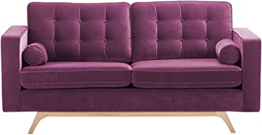Magenta Contemporary Two Seater Sofa with Fabric Upholstery - Yucad