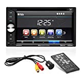 BOSS Audio Systems BVB9351RC Car DVD Player with Rearview Camera - Double Din, Bluetooth Audio and Calling, 6.2 Inch LCD Touchscreen Monitor, MP3, CD, DVD, USB, SD, Aux-in, AM/FM Radio Receiver