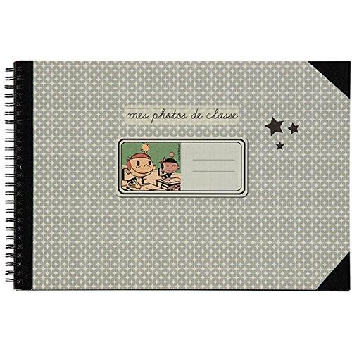 Petit Retro Mon Album Photo de Classe Maternelle/Terminale, 40 Pages Noires, 32 x 22cm