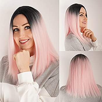 Demides Synthetic Straight Ombre Wigs