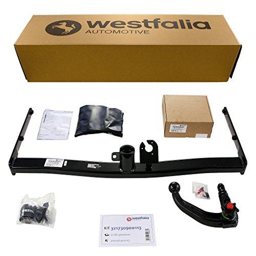 Abnehmbare Westfalia Anhängerkupplung für Golf VI Cabrio (ab BJ 06/2011) im Set mit 13-poligem fahrzeugspezifischen Westfalia Elektrosatz