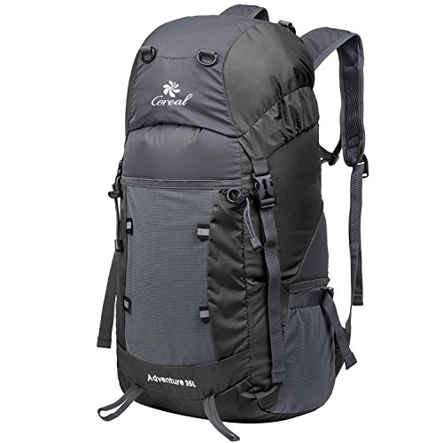 Coreal 35L Lightweight Foldable Travel Hiking Backpack Black