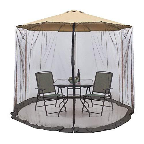 DricRoda 9' to 10' Patio Umbrella Screen, Outdoor Market Table Umbrella Hanging Mosqutio Net Tents, Garden Large Umbrella Cover Netting