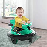 Naladoo Bumper Car Toy for Kids Aged 1.5-6Boys Girls│Baby Electric Cars│ 360 Spin Powered, Funny Ride-On Bumper Car for Toodler, 66Lbs Capacity, Charger and Battery Include,Green (C)
