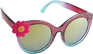 Purple and Blue Glitter Flower Kids Sunglasses Child Shades UV400