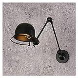 GaLon Lámpara de pared extensible industrial vintage retro con brazo largo, lámpara de pared ajustable industrial, almacén/granero