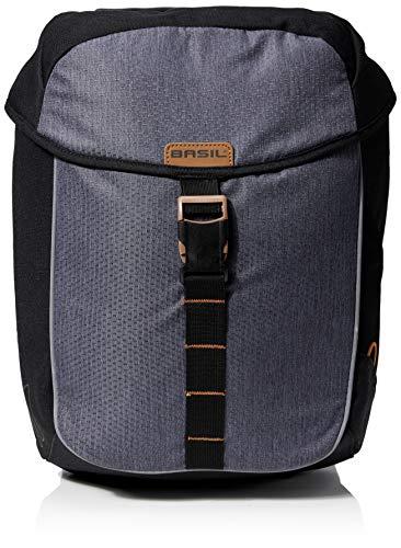Basil Unisex– Erwachsene Satteltasche-2179244100 Satteltaschen, Black Slate, 32 L