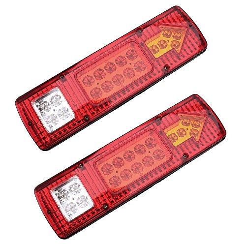 Feux Arrière 19 LED Tail Trailer 12V Feux de Recul Freinage Caravane Véhicule Lamp Lot de 2
