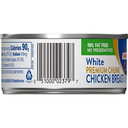 Swanson Premium White Chunk Chicken Breast, 4.5 Oz. Can (Pack of 24)