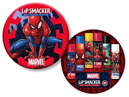 Lip Smacker Lip Balm Collection, Spider-Man, Set of 6 Lip Balms