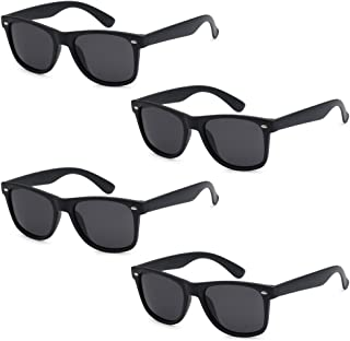 f56f5324eb3 WHOLESALE UNISEX 80 S RETRO STYLE TRENDY SUNGLASSES - 4 PACK