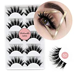 Material: Best imported fiber,as soft as real eyelashes, extremely comfortable to use. Style: Vivid and Shiny and Soft.Perfect for daily use,party or night out. Craft: Be meticulous handmade to ensure the best quality. Lifetime: Could be reused for 3...