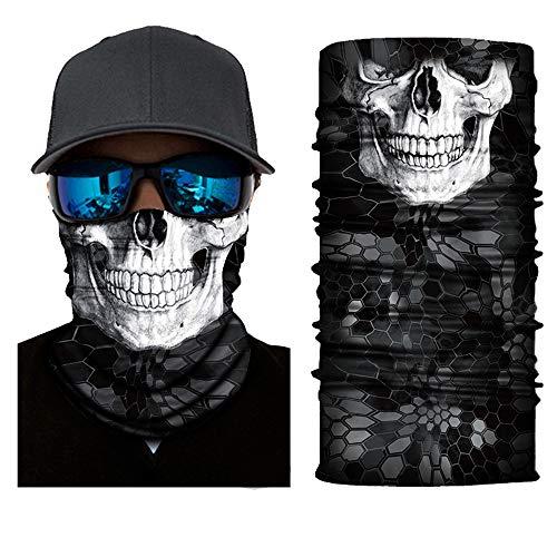 LEGENSTAR 3D Magic Head Scarf,Skull Bandana Face Mask for Men Women,Neck Gaiters
