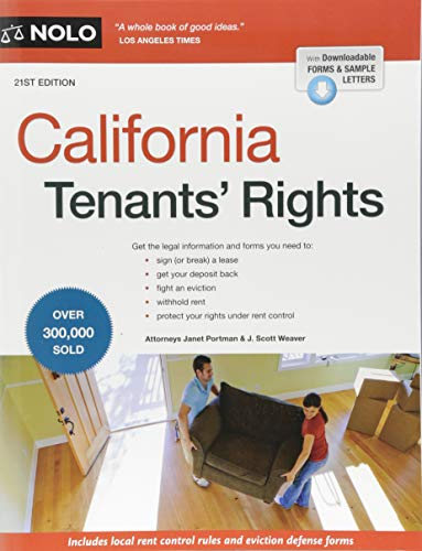 Compare Textbook Prices for California Tenants' Rights Twenty first Edition ISBN 9781413325256 by Portman Attorney, Janet,Weaver Attorney, J. Scott