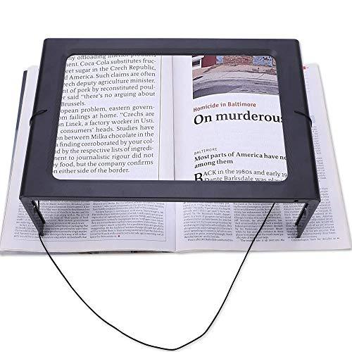 ZDXR Réglable Loupe de Table Support Mains Libres loupe de Table sans Distorsion loupe de Lecture avec Lumière LED pour Travaux,Réparations Electronique,Artisanat,Lecture