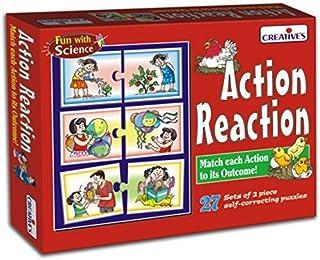 Creative Educational Aids P. Ltd. Action And Reaction Puzzle (Multi-Color, 54 Pieces)