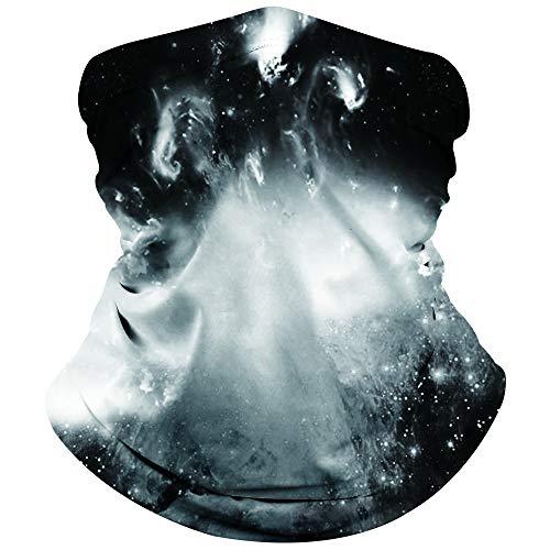 NEWISTA Damen und Herren Multifunktionstuch 3D Lustig Nahtloser Kopftuch Schlauchtuch Halstuch Outdoor Atmungsaktiv Staubschutz Mund-Tuch Schlauchschal Face Scarf Motorrad