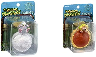 My Singing Monsters Baby Mammott Collectible Figure with Egg Bundle Baby Flowah Collectible Figure with Egg, Brown/a