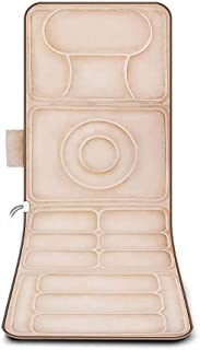 Full Body Massage Mat with Heat,9 Vibrating Motors,8 Mode, 5-Speed Adjustment Massager Cushion,25W Massager Relieves Stres...