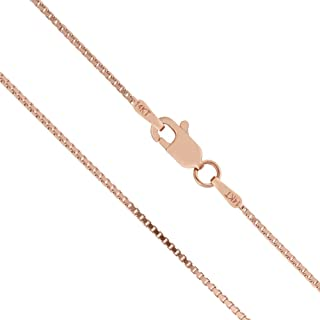 Honolulu Jewelry Company 14K Solid Rose Gold Box Chain Necklace