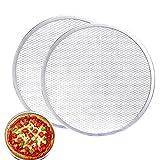 MAXSELL 2 Pack 12-Inch Pizza Screen,Aluminum Pizza Baking Screen, Seamless