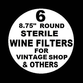 6 WINE FILTER PADS STERILE 8.75
