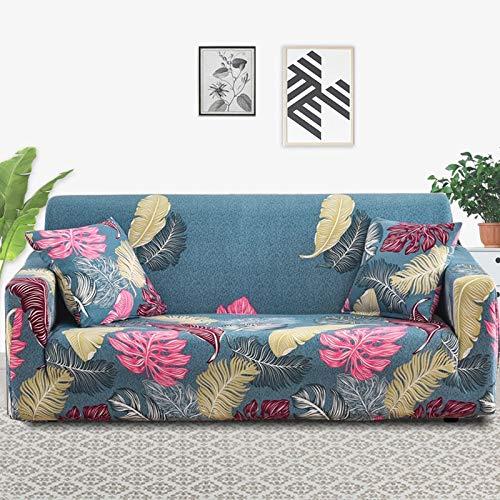 Funda de sofá con Estampado Floral para Muebles, Funda de sofá elástica para Sala de Estar, Funda Protectora Antideslizante para Muebles A16, 3 plazas