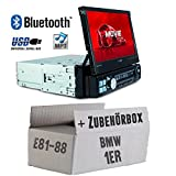 Autoradio Radio Caliber RMD574BT - Bluetooth | MP3 | USB | SD | 7' TFT - Einbauzubehör - Einbauset für BMW 1er E81 E87 - JUST SOUND best choice for caraudio