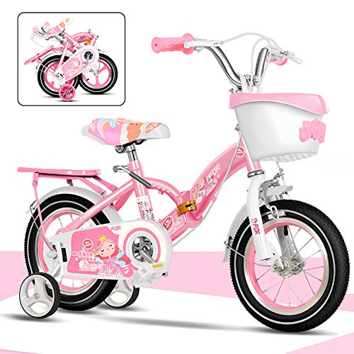 SHIN 12-18 Pulgadas Bicicletas Doblar Infantiles, Bici Plegable para Niñas, Bicicleta Infantil...