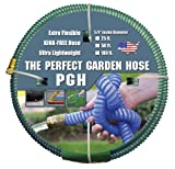 Tuff-Guard The Perfect Garden Hose, Kink Proof Garden Hose Assembly, Green, 5/8' Male x Female GHT...