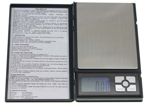 はかり 秤 ノートブックタイプ 0.01〜500g 携帯デジタル 精密 高精度 小型軽量 電子はかり