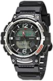 Casio Men's 10 Year Battery Quartz Watch with Resin Strap, Black, 24.1 (Model: WSC-1250H-1AVCF)