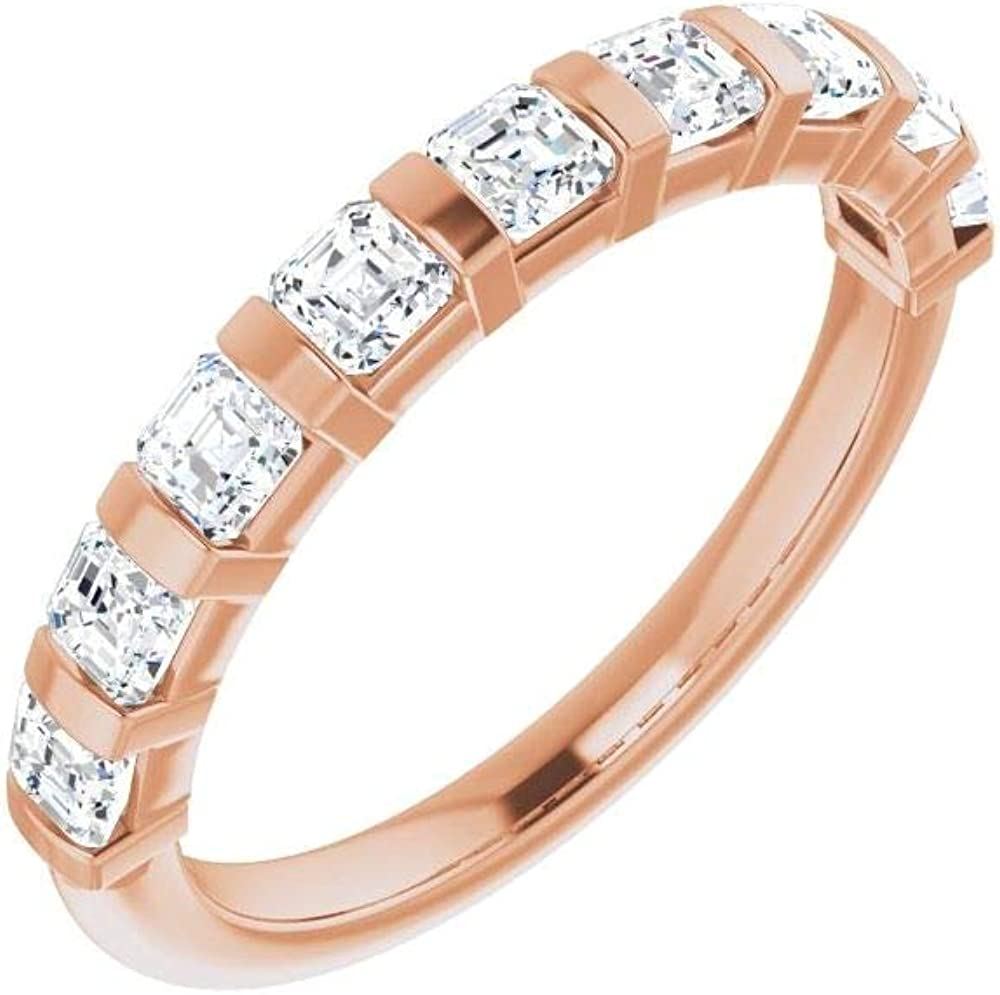 Bonyak Jewelry Cheap mail order shopping 14kt Rose Gold 9 CTW Band 10 Diamond favorite Anniversary