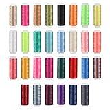 Amosfun Polyester-Garnspulen, Nähgarn, Quilten, Handnähgarn, zufällige Farbe, Partyzubehör