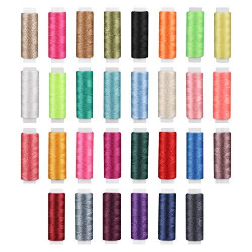 OULII Nähgarn 30pcs Fäden nähen Thread Set Polyester-Garn Spulen Saiten Nähen Quilten (zufällige Farbe)