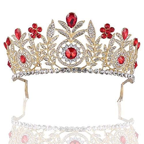 Tiaras y coronas barrocas Vintage con peinetas para el cabello diademas de...