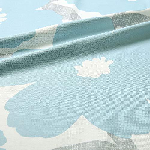 パーフェクトスペースカーテン館【北欧風遮光カーテン~ソポ~ブルー】⽇本製2級遮光青色花柄[100サイズから選べる](幅)100cm(丈)200cm×2枚/オーダー/両開き/1.5倍ヒダ/Aフック