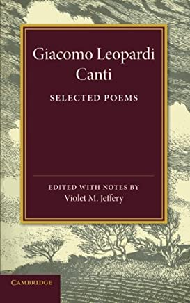 Giacomo Leopardi: Canti: Selected Poems