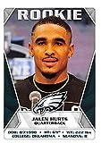 2020 Panini NFL Stickers #330 Jalen Hurts RC Rookie Philadelphia Eagles Football Sticker Card (Mini, Thin, Peelable Sticker). rookie card picture